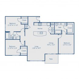 Bell at Teravista C2A Floor Plan